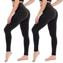 CAMPSNAIL High Waisted Leggings for Women - Tummy Control Soft Opaque Workout Running Legging Regular & Plus Size Pants