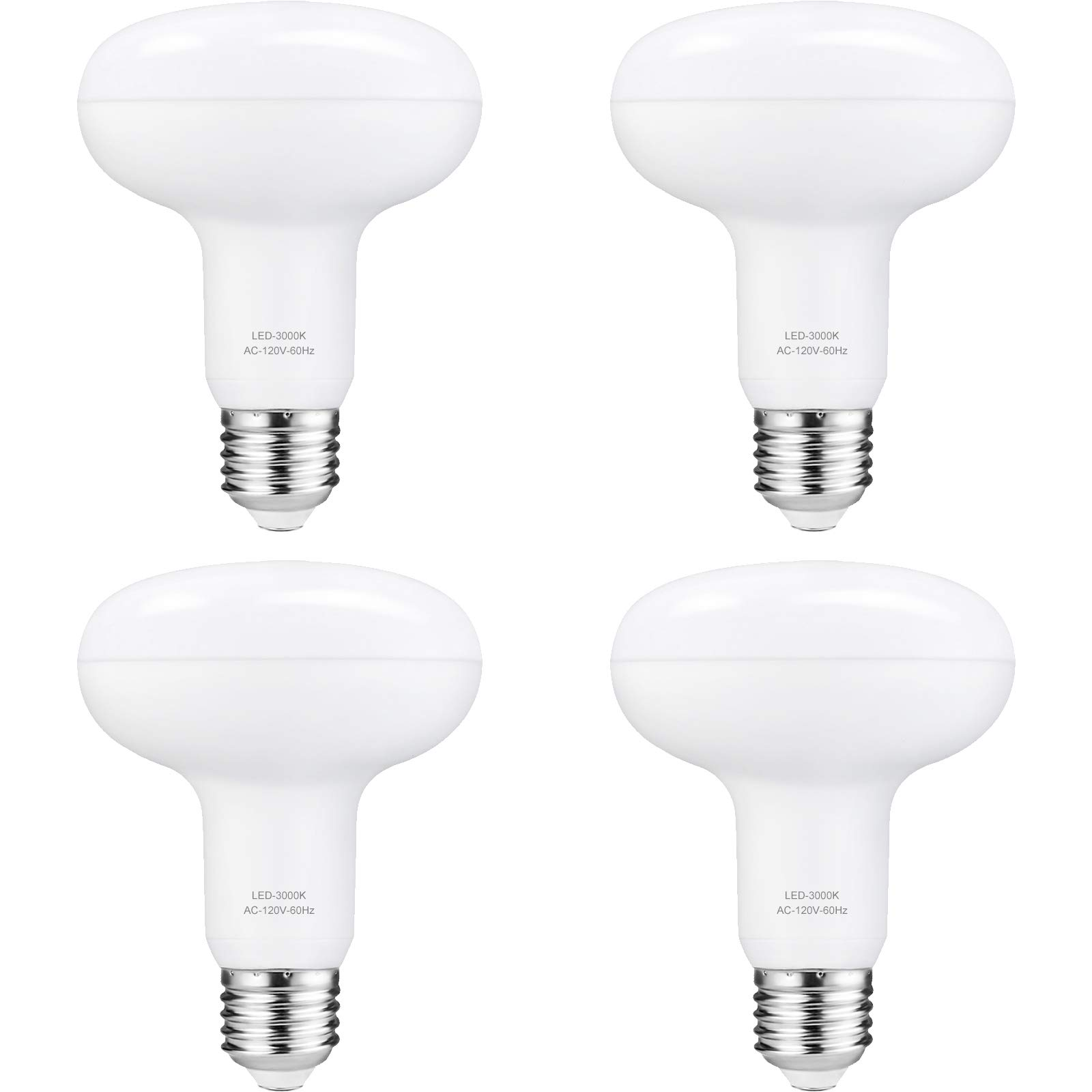 LED Can Light Bulbs BR30 - 12W Dimmable E26 Base Recessed Lightbulbs Replace 100W, Warm White 3000K 1200 Lumens Indoor Reflector Flood Lighting, Pack of 4