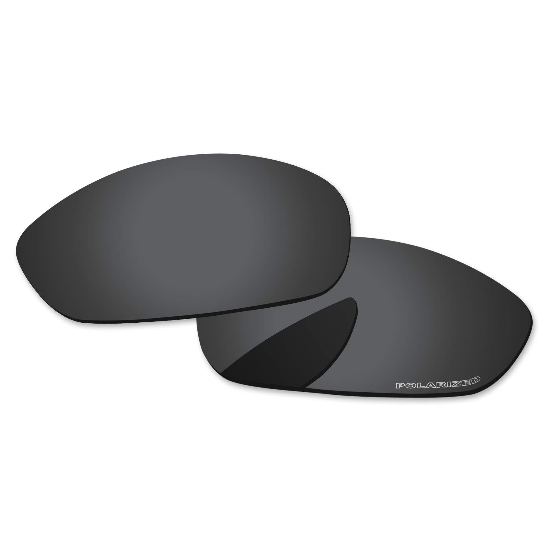 PapaViva Lenses Replacement & Rubber Kits for Oakley Whisker Black Grey - Polarized