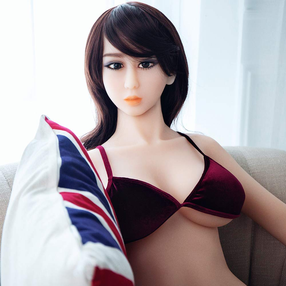 YOUOU Chris Sex Doll for Men 158CM 5'18 F-Cup Lifelike Soft TPE Sex Toys with 3 Holes Full Size Real Love Sex Doll with Discreet Shipping (Sex Doll)