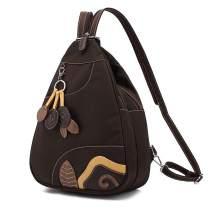 Sling Waterproof Nylon Backpack for Women - 2 Way Convertible Crossbody Daypack