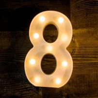 Foaky LED Number Lights Sign Light Up Number Lights Sign for Night Light Wedding Birthday Party Battery Powered Christmas Lamp Home Bar Decoration (8)