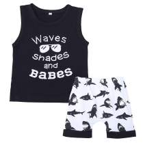 Toddler Baby Boy Cartoon Short Sleeve Button Down Shirt & Casual Shorts Kids Summer Outfits Clothes Set …