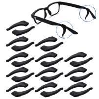 TEEMADE Silicone Eyeglasses Temple Tips Sleeve Retainer,Anti-Slip Ear hooks Comfort Glasses Retainers hooks For Spectacle Sunglasses Reading Glasses Eyewear (Black)