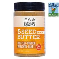 Beyond the Equator 5 Seed Butter Crunchy- Peanut Free, Tree Nut Free, Sunflower Seed, Chia Seed, Flaxseed, Pumpkin Seed, Hemp Hearts, Low Carb, Keto, Non-GMO, 1 Pack, 16 Ounces