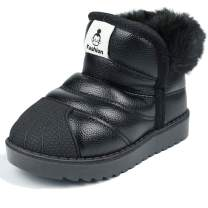 MUYGUAY Toddler Winter Snow Boots Boys Girls Warm Faux Fur Shoes for Baby Toddler Little Kid