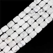 """Oameusa Agate Beads 12x16mm Howlite Rectangle Agate Beads Round Beads Gemstone Beads Loose Beads Accessories Agate Beads for Jewelry Making 8"""" 1 Strand per Bag-Wholesale"""
