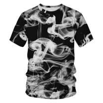 Auremore 3D Print T-Shirt Fashion Graphic Tee Crewneck Short Sleeve T-Shirts for Men Women