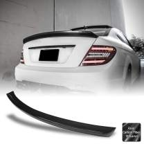 AeroBon Real Carbon Fiber Rear Spoiler Wing Compatible with 2007-14 Mercedes W204 C-Class Sedan (VT Style)