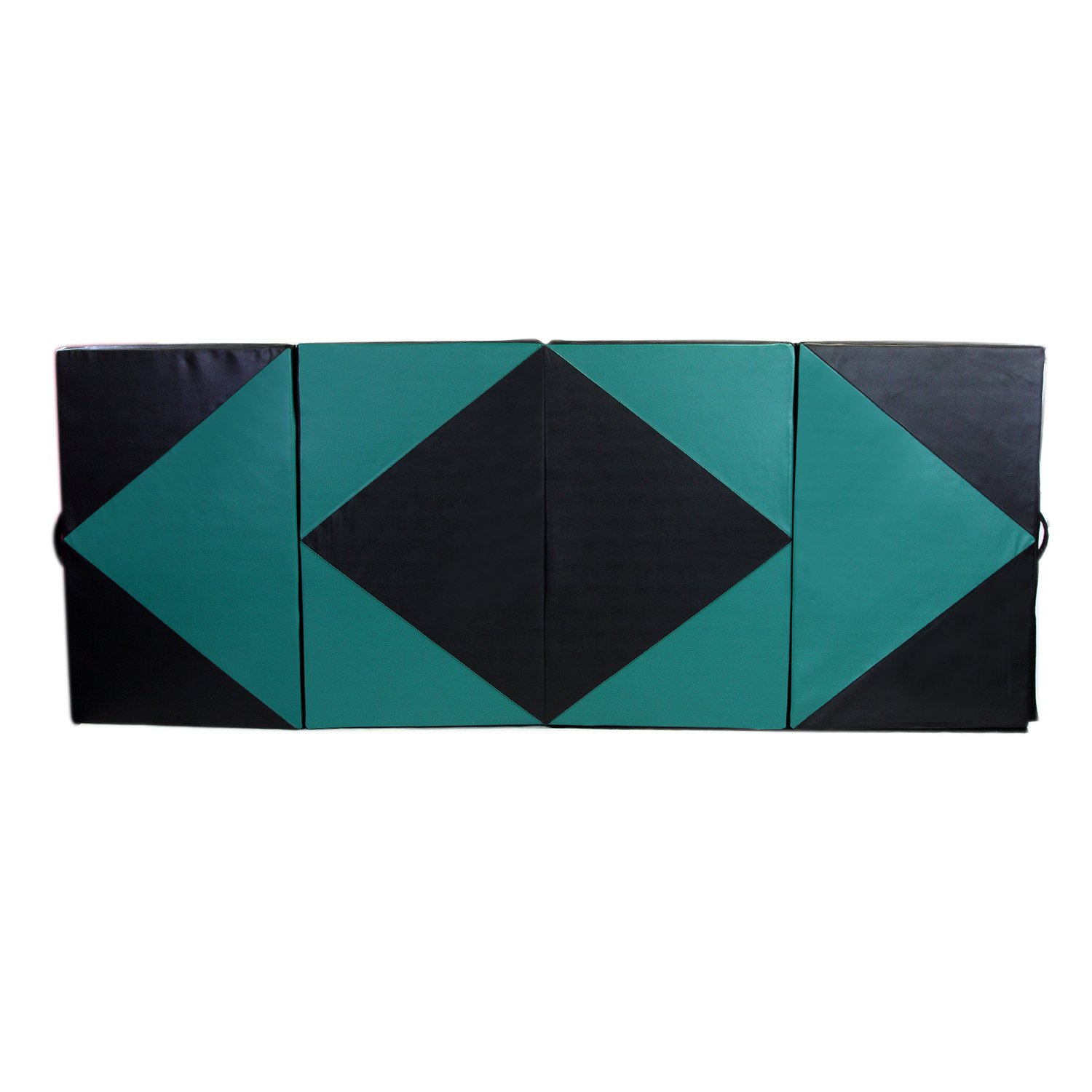 4'X8'X2 Gymnastic Mat Durable Folding Gymnastic Mat Tumbling Exercise Yoga Fitness PU Leather for Kids Ladies