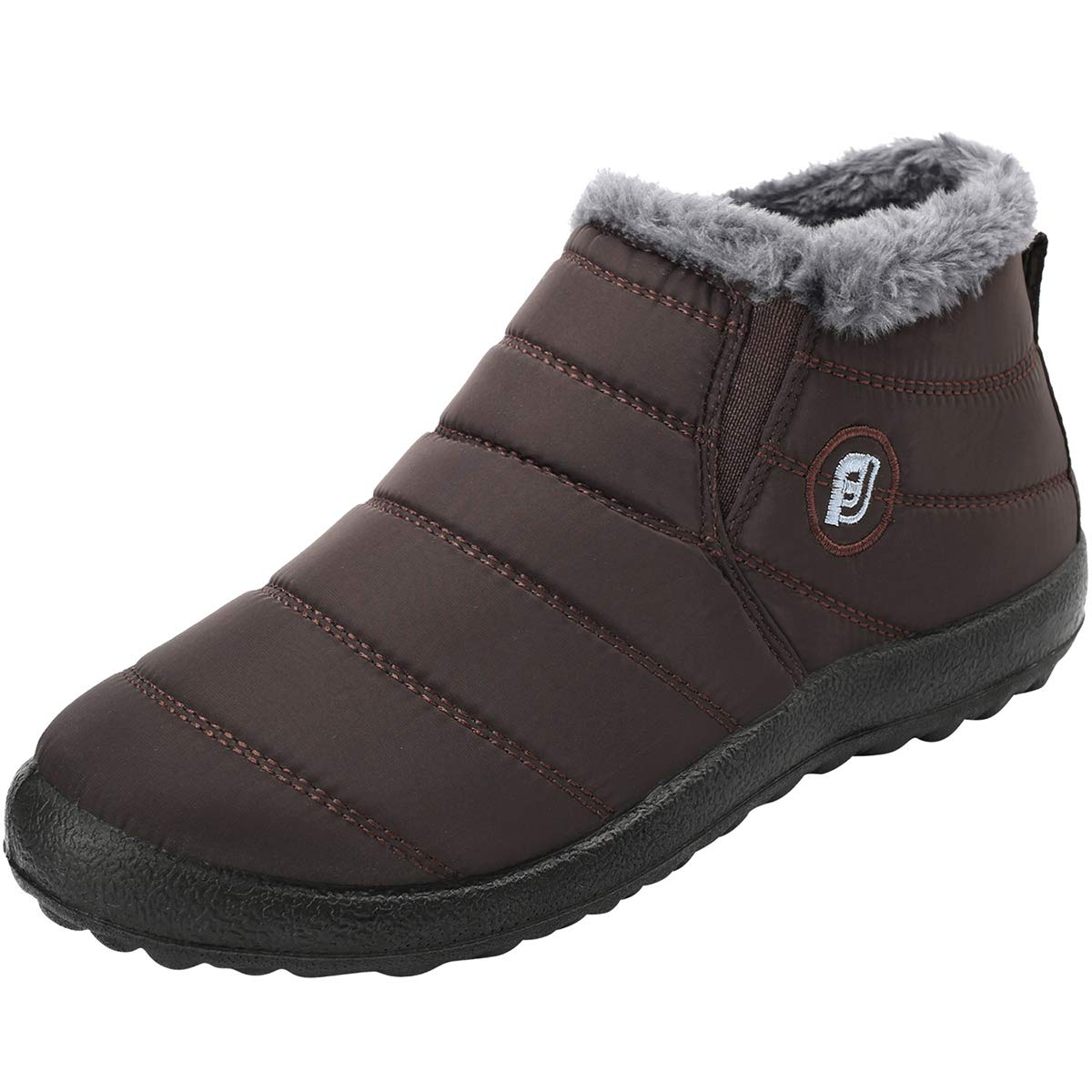 JOINFREE Winter Snow Boots for Women Waterproof Anti-Skid House Shoes Ankle Outdoor for Couples