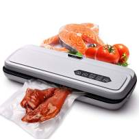 Vacuum Sealer Machine Automatic Air Sealing System Start Kit for Food Preservation with 10 Sealer Bags Sous Vide Cooking Commercial Grade Dry Moist Modes