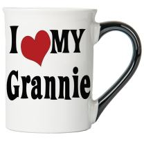 Cottage Creek Grannie Gifts Large 18 Ounce Ceramic I Love My Grannie Coffee Mug/Grannie Mug Grannie Cup [White]