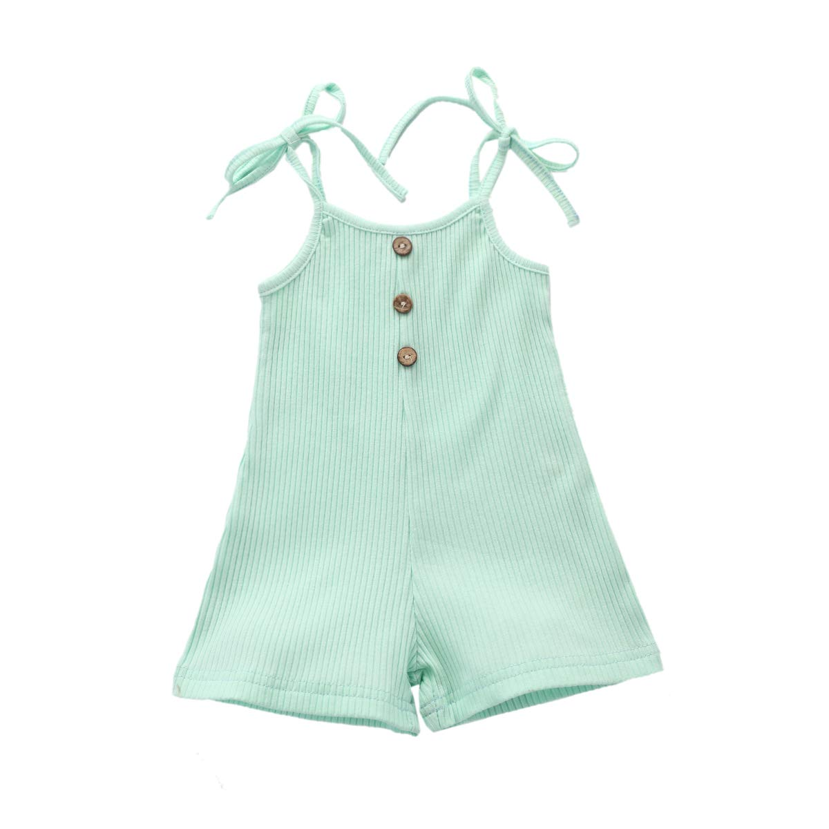 YALLET Newborn Baby Girl Clothes Sling Jumpsuit Summer Outfits Solid Color Romper Infant Baby Clothes