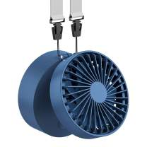 EasyAcc Necklace Fan 180° Rotating Hand Free Fan for 6-18H Working Hours 2600mAh Rechargeable Battery Operated Fan USB Desk Fan with 3 Settings Personal Cooling Fan for Camping Outdoors Travel–Blue