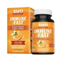 Zand Immune Fast Zesty Orange Chews | Boosts Immune Response & Cell Activity w/EpiCor*, Echinacea, 30 Tablets, 10 Serv.
