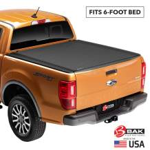 BAK Revolver X4 Hard Rolling Truck Bed Tonneau Cover | 79427 | Fits 2016-18 Toyota Tacoma, w/OE track system 6' Bed