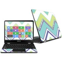 """MightySkins Skin Compatible with Samsung Chromebook Pro 12.3"""" - Pastel Chevron   Protective, Durable, and Unique Vinyl Decal wrap Cover   Easy to Apply, Remove, and Change Styles   Made in The USA"""
