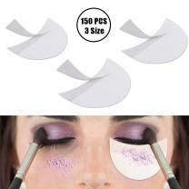 YBB 150 Pieces Eyeshadow Shield, 3 Size Mascara Guards Shields Makeup Eyeshadow Stencils Tape Patches(150 Pcs Eyeshadow Shield)