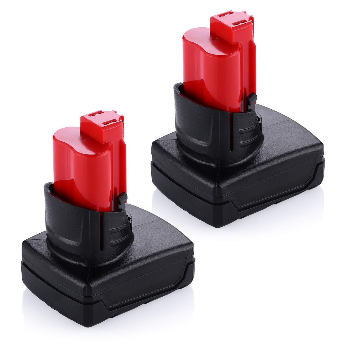 Upgraded Powerextra 6.0Ah 12V Lithium-ion Replacement Battery Compatible with Milwaukee M12 Milwaukee 48-11-2411 Lithium 12-Volt Cordless Milwaukee Tools,2 Pack