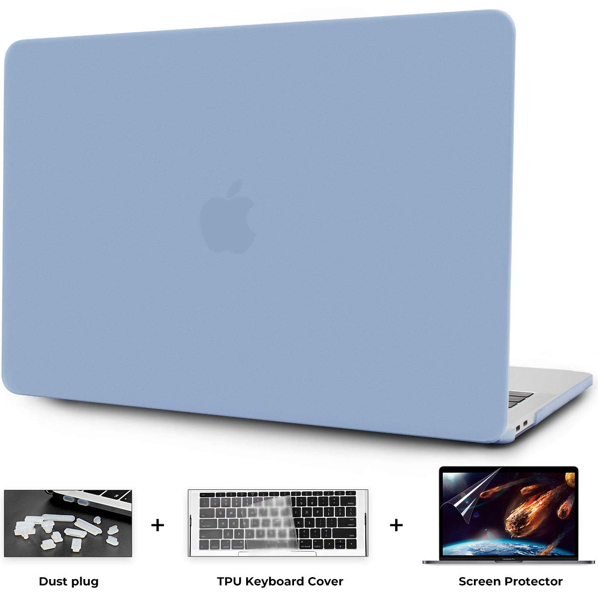 OneGET Macbook Air 13 Inch Case 2018 Laptop Case Macbook Air13 Release A1932 with Retina Display PP Computer Case Macbook Air13 Hard Shell Minimalist Thin Macbook Air 13 Case whith Touch ID Light blue