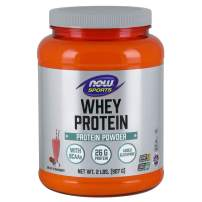 Now Sports Nutrition, Whey Protein, 26 G with BCAAs, Creamy Strawberry Powder, 2-Pound