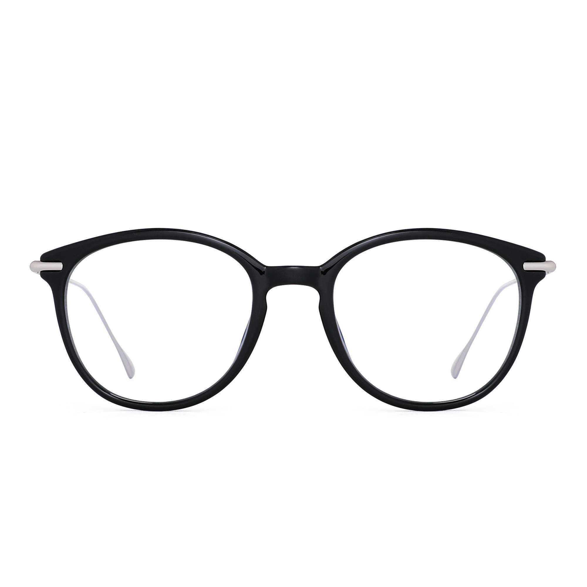 GLINDAR Retro Blue Light Blocking Glasses Reduce Eye Strain Computer Video Game Eyeglasses Men Women