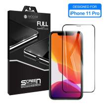 """iPhone 11 Pro/X/XS Screen Protector Tempered Glass Full Screen Film MOCOLL 0.26mm Ultra Slim [9H Hardness] [Anti-Scratch] [Anti-Fingerprint] [No Bubbles] [Easy Installation] [Case Friendly] 5.8"""""""