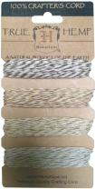 Hemptique Hemp Cord 4 Color Cards - Made with Love - Crafter's No. 1 Choice – Eco Friendly – Plant Hanger - Scrapbooking – Gardening – Macramé – Home Décor (Metallic Vintage Pack)