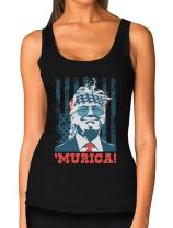 Donald Trump 2020 Murica Patriotic American Party 4th of July USA Women Tank Top