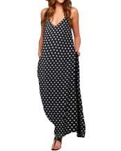ZANZEA Womens Polka Dot Maxi Dress Casual Summer Floral Print Long Boho Beach Sundress Plus Size