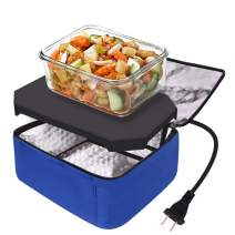 Portable Oven Personal Food Warmer for Prepared Meals Reheating & Raw Food Cooking by Aotto (Blue)
