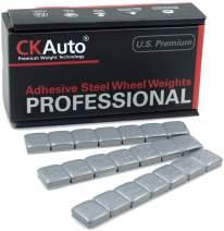 CKAuto 1/2oz, 0.5oz, Grey, Adhesive Stick On Wheel Weights, 63 oz/ 4 lb/Box, OE Quality, (126pcs)