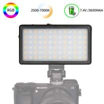 ANDYCINE R1 Pocket Size RGB On Camera Video Light 360Colors,Dimmable 2500-7000k Range Led Video Light,7 Common Scenario Simulations with Premium Aluminum Alloy Shell,3600mAh Built in Battery