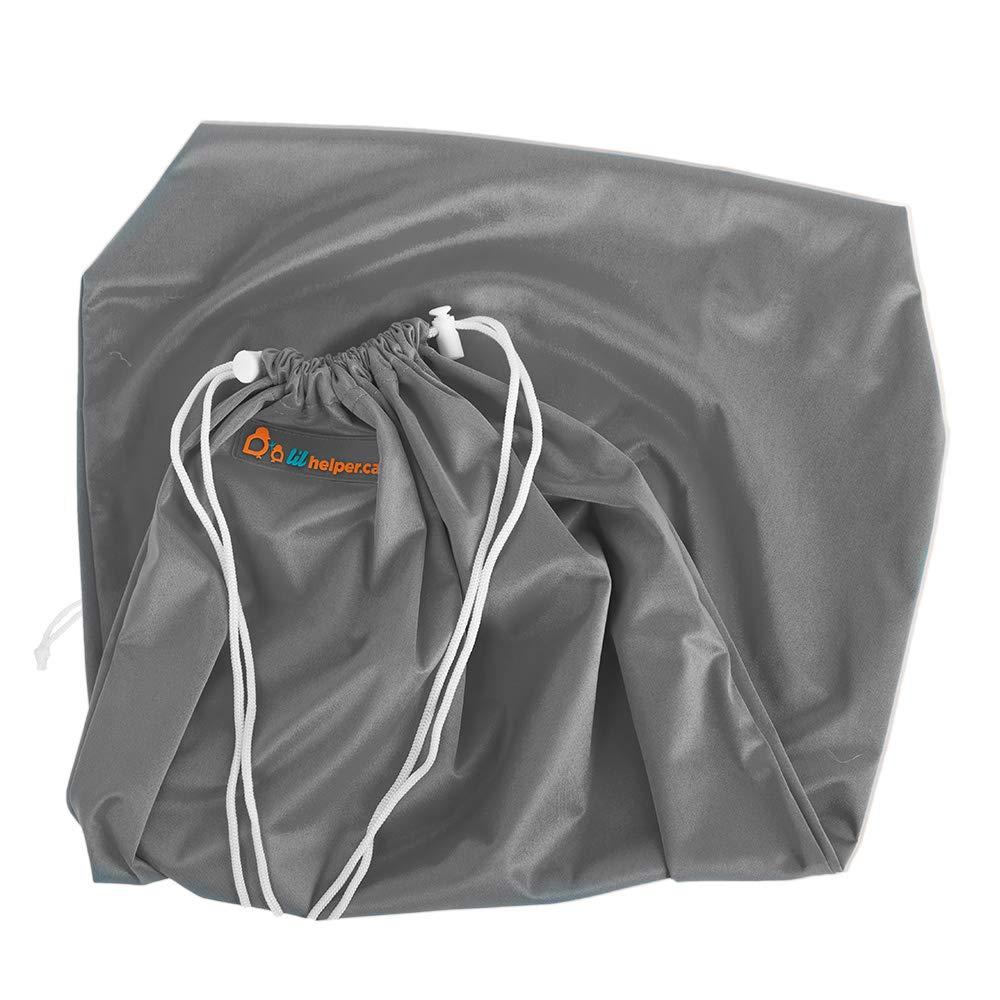 Lil Helper Multipurpose Large Wet Bag for Diapers, Beach, Swimwear, Pool, Gym, and Travel (Print) (Titanium)