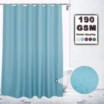VCVCOO Extra Long 78Inch Rectangular Waterproof Fabric Bath Curtains Thicken Light Blue, Stylish Polyester Shower Curtain for Bathroom Dustproof, Heavy Duty Shower Curtain Washable Rust Proof Grommet