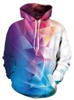 Heymiss Womens 3D Digital Print Fashion Hoodie Pullover Hooded Sweatshirt Unicorn