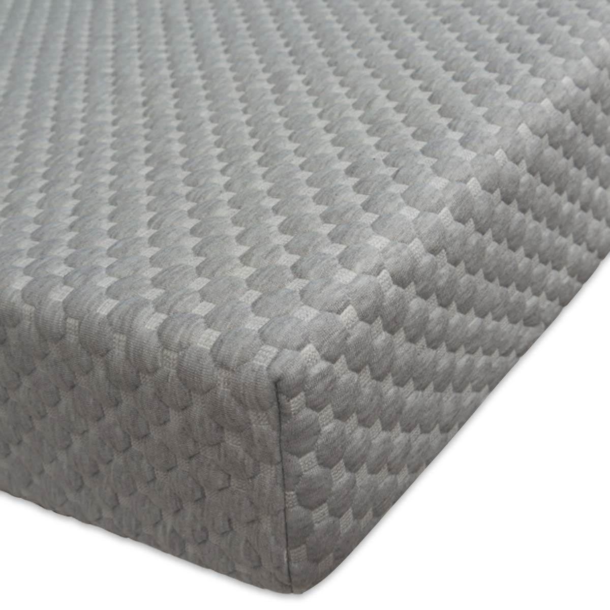 BlueSnail Bamboo Rayon Quilted Pack N Play Crib Mattress Cover - Fits Baby Portable Mini Cribs, Play Yards and Foldable Mattresses (Gray)