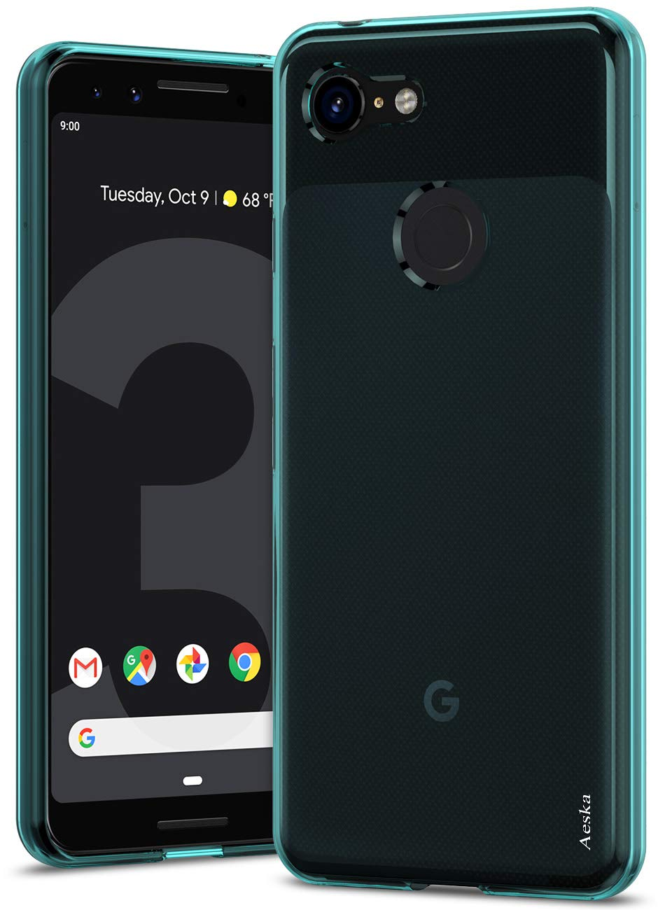Google Pixel 3 Case, Aeska Ultra [Slim Thin] Flexible TPU Soft Skin Silicone Protective Case Cover for Google Pixel 3 (Mint)