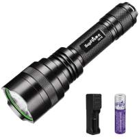 Supfire Tactical Flashlight,Led Flashlight 1000 Lumens Bright Flashlight Waterproof Camping Torch with 18650 Battery and Charger Perfect for Hiking,Dog-Walk,5 Lighting Modes