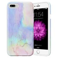 Caka Marble Case for iPhone 6S Plus, iPhone 6 Plus 6S Plus 7 Plus 8 Plus Marble Case Slim Protective Fashion Case for iPhone 6 Plus 6S Plus 7 Plus 8 Plus (Opal)
