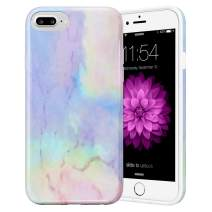 Caka Marble Case for iPhone 6S Plus, iPhone 6 Plus 6S Plus 7 Plus 8 Plus Marble Case Slim Protective Fashion Case for iPhone 6 Plus 6S Plus 7 Plus 8 Plus (Opal)