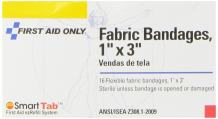 """First Aid Only 1"""" X 3"""" Fabric Bandage, 16-Count Boxes (Pack of 20)"""
