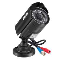 ZOSI 1080P HD-TVI Security Camera for Home Office Surveillance CCTV System - Bullet bnc Camera with Night Vision Black