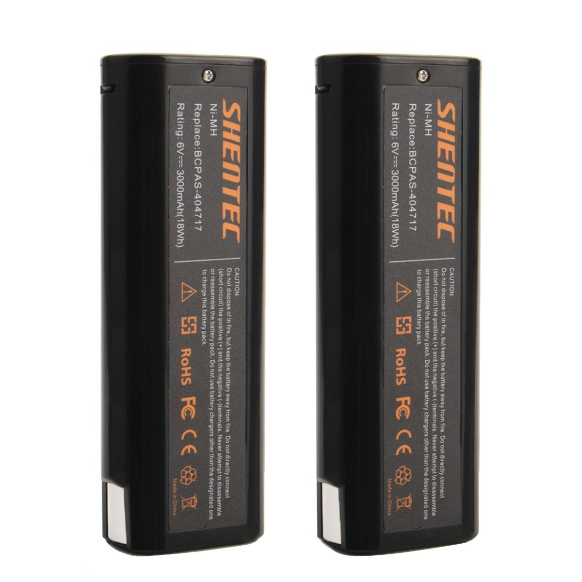 Shentec Upgraded 2-Pack 6V 3.0Ah Battery Compatible with Paslode 404717 B20544E BCPAS-404717 404400 900400 900420 900421 900600 901000 902000 B20720 IM200 F18 IM250 IM250A IM350A PS604N, Ni-MH