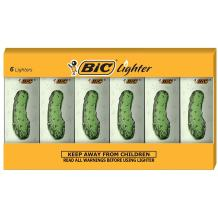 BIC Special Edition Pickle Series Lighters, Set of 6 Lighters