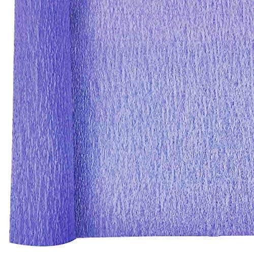Just Artifacts 70g Premium Crepe Paper Roll, 20in Width, 8ft Length, Color: Iris Purple