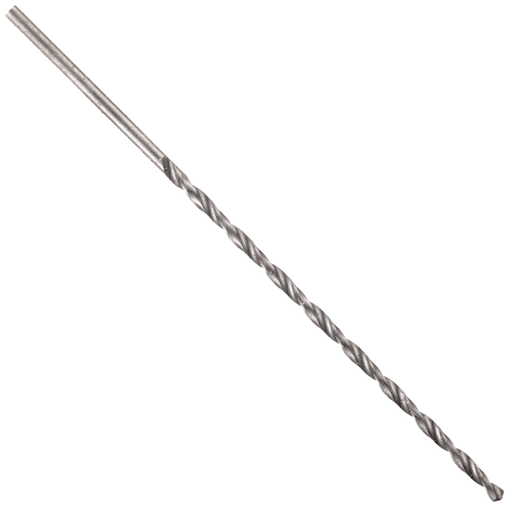 """Chicago Latrobe 255AN High-Speed Steel Long Length Drill Bit, Black Oxide Finish, Round Shank with Tang, 118 Degree Conventional Point, 43/64"""" Size (Pack of 1)"""