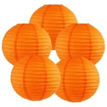 Just Artifacts 12-Inch Orange Chinese Japanese Paper Lanterns (Set of 5, Orange)