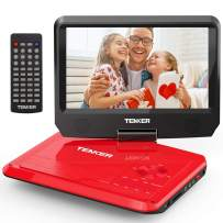 """TENKER 9.5"""" Portable DVD Player with Swivel Screen, Rechargeable Battery and SD Card Slot & USB Port"""